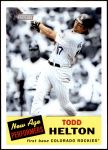 2005 Topps Heritage New Age Performers #11 NAP Todd Helton  Front Thumbnail