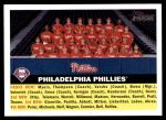 2005 Topps Heritage #72   Philadelphia Phillies Team Front Thumbnail