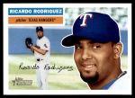 2005 Topps Heritage #74  Ricardo Rodriguez  Front Thumbnail