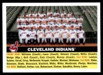 2005 Topps Heritage #85   Cleveland Indians Team Front Thumbnail