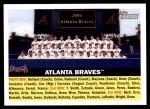 2005 Topps Heritage #95   Atlanta Braves Team Front Thumbnail