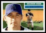 2005 Topps Heritage #274  Brandon Webb  Front Thumbnail