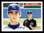 2005 Topps Heritage #448  Matt Campbell  Front Thumbnail