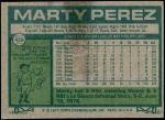 1977 Topps #438  Marty Perez  Back Thumbnail