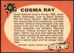 1968 Topps Hot Rods #32   Cosma Ray Back Thumbnail