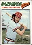 1977 Topps #516  Bake McBride  Front Thumbnail