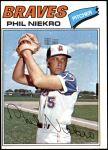 1977 Topps #615  Phil Niekro  Front Thumbnail