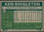 1977 Topps #445  Ken Singleton  Back Thumbnail