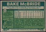 1977 Topps #516  Bake McBride  Back Thumbnail
