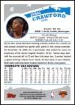 2005 Topps #6  Jamal Crawford  Back Thumbnail