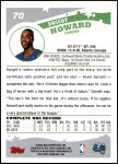 2005 Topps #70  Dwight Howard  Back Thumbnail
