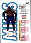 1993 Fleer #61  Terry Mills  Back Thumbnail