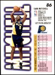 1993 Fleer #86  Sam Mitchell  Back Thumbnail