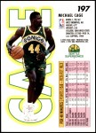 1993 Fleer #197  Michael Cage  Back Thumbnail