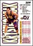 1993 Fleer #209  Larry Krystkowiak  Back Thumbnail