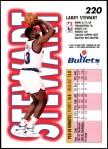1993 Fleer #220  Larry Stewart  Back Thumbnail