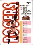 1993 Fleer #278  Rodney Rogers  Back Thumbnail