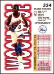 1993 Fleer #354  Orlando Woolridge  Back Thumbnail