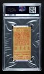 1911 T205  Frank Chance  Back Thumbnail