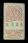 1911 T205  Mickey Doolan  Back Thumbnail