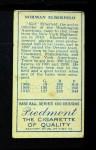 1911 T205  Kid Elberfeld  Back Thumbnail