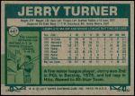 1977 Topps #447  Jerry Turner  Back Thumbnail
