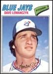 1977 Topps #611  Dave Lemanczyk  Front Thumbnail