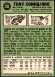 1967 Topps #280  Tony Conigliaro  Back Thumbnail