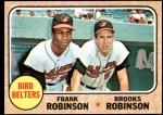 1968 Topps #530   -  Frank Robinson / Brooks Robinson Bird Belters Front Thumbnail
