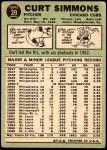 1967 Topps #39  Curt Simmons  Back Thumbnail
