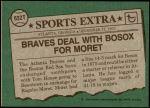 1976 Topps Traded #632 T Rogelio Moret  Back Thumbnail
