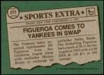 1976 Topps Traded #27 T Ed Figueroa  Back Thumbnail