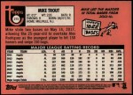 2018 Topps Heritage #275 A Mike Trout  Back Thumbnail