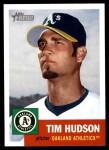 2002 Topps Heritage #15  Tim Hudson  Front Thumbnail