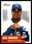 2002 Topps Heritage #445  Dee Brown  Front Thumbnail