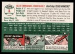 2003 Topps Heritage #1 RED Alex Rodriguez  Back Thumbnail