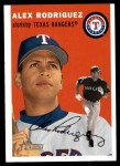 2003 Topps Heritage #1 RED Alex Rodriguez  Front Thumbnail