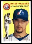 2003 Topps Heritage #13  Javier Vazquez  Front Thumbnail