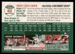 2003 Topps Heritage #62  Barry Larkin  Back Thumbnail