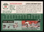 2003 Topps Heritage #84  Austin Kearns  Back Thumbnail