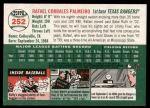 2003 Topps Heritage #252  Rafael Palmeiro  Back Thumbnail