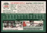 2003 Topps Heritage #322  Luis Castillo  Back Thumbnail