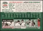 2003 Topps Heritage #406  Luis Gonzalez  Back Thumbnail
