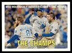 2016 Topps Heritage #1   -  Mike Moustakas / Alcides Escobar / Eric Hosmer The Champs  Front Thumbnail