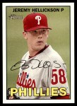 2016 Topps Heritage #4  Jeremy Hellickson  Front Thumbnail