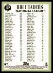 2016 Topps Heritage #242   -  Nolan Arenado / Paul Goldschmidt / Anthony Rizzo NL RBI Leaders Back Thumbnail