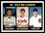 2016 Topps Heritage #242   -  Nolan Arenado / Paul Goldschmidt / Anthony Rizzo NL RBI Leaders Front Thumbnail