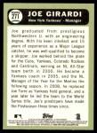 2016 Topps Heritage #271  Joe Girardi  Back Thumbnail