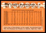 1988 Topps Traded #70 T Larry McWilliams  Back Thumbnail