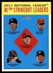 2012 Topps Heritage #9   -  Clayton Kershaw / Cliff Lee / Roy Halladay / Tim Lincecum / Yovani Gallardo AL Pitching Leaders Front Thumbnail